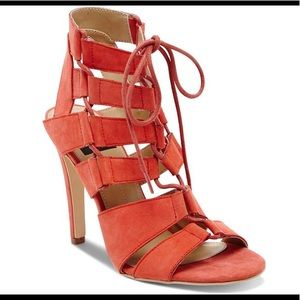 DV Dolce Vita Strappy Heels 7.5 Salmon color